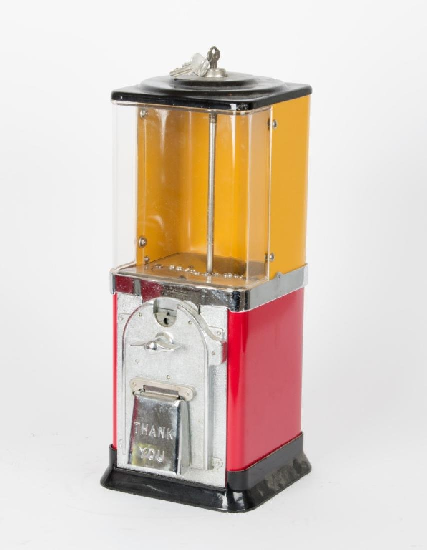 Three vintage counter top gumball machines - 3