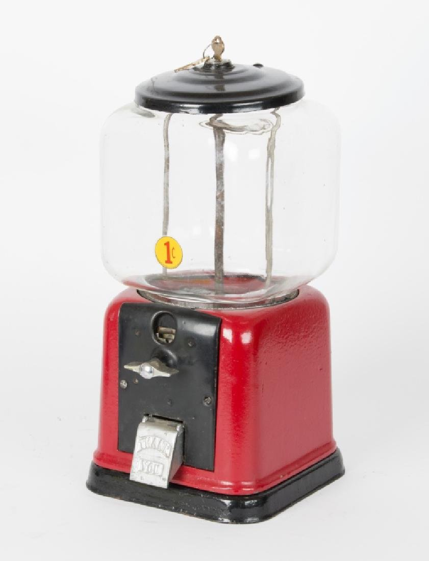 Three vintage counter top gumball machines - 4