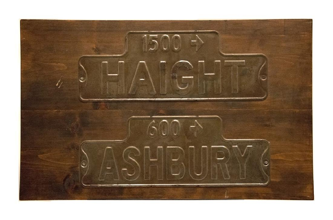 Haight and Ashbury vintage street signs