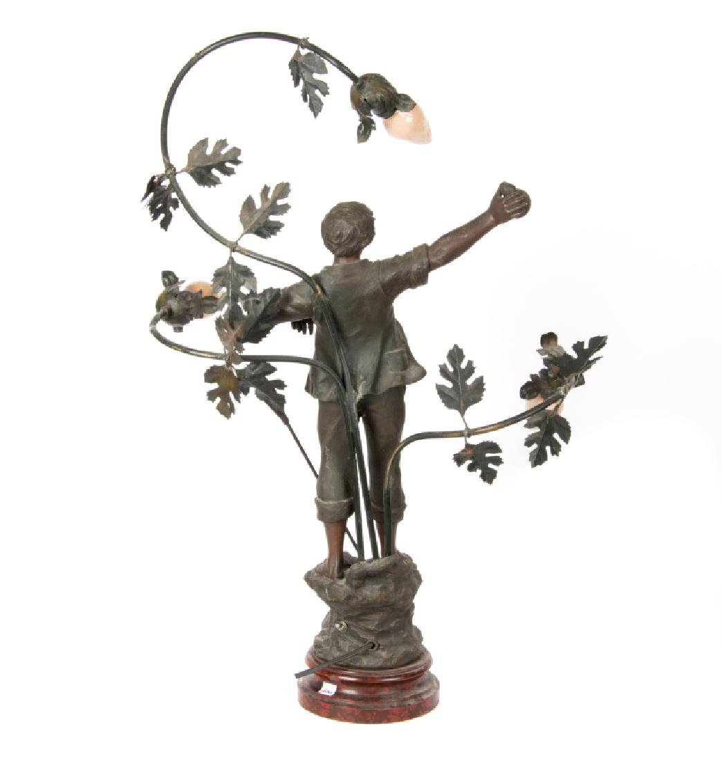 A Mestais spelter figural lamp of 'The Haymaker' - 2