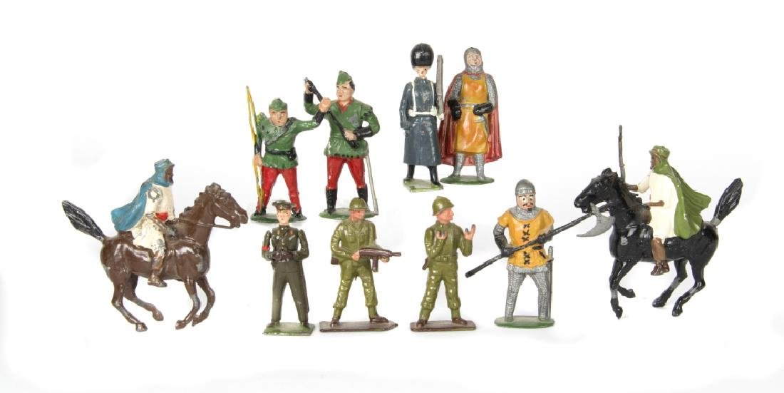 A group of toy soldiers