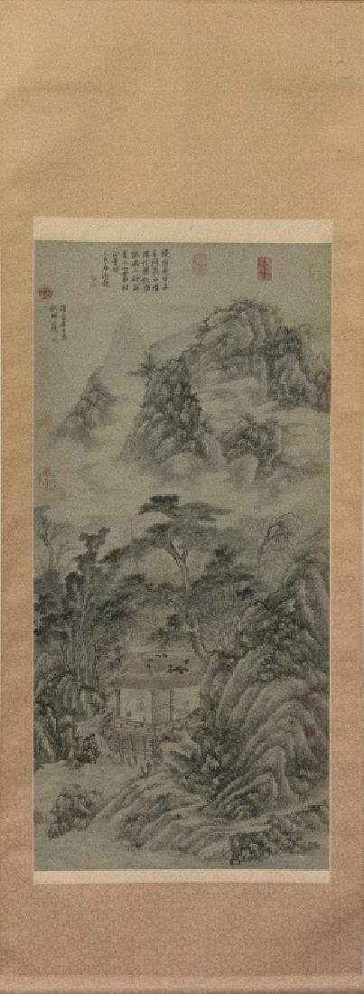 A Chinese decorative hanging scroll