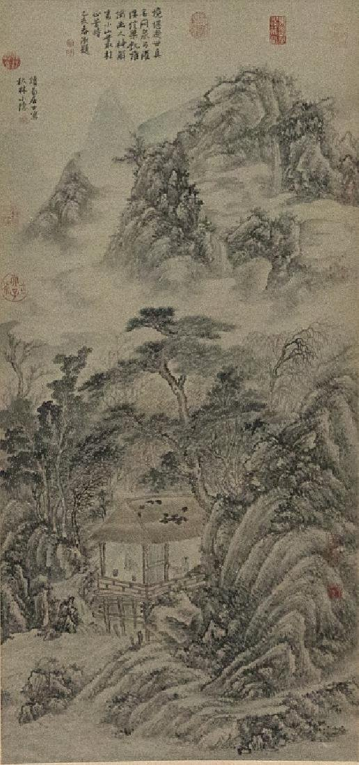 A Chinese decorative hanging scroll - 2