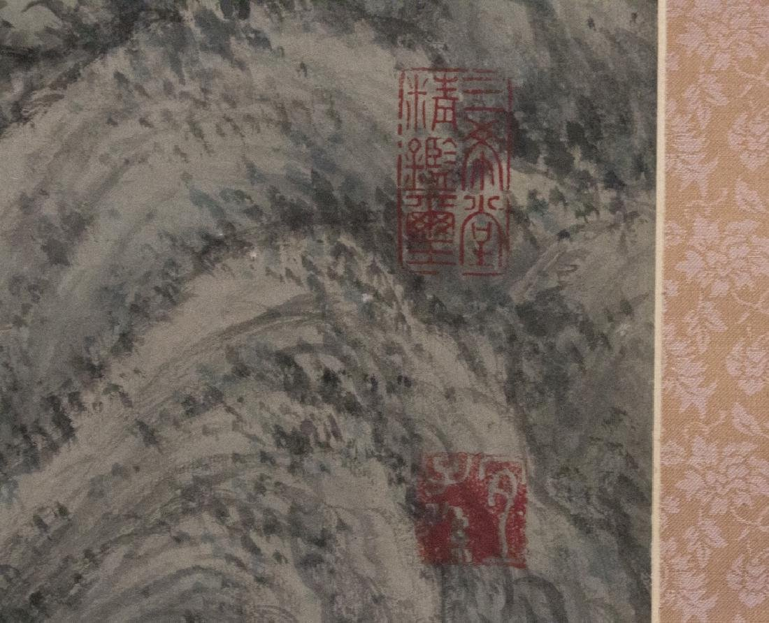 A Chinese decorative hanging scroll - 4