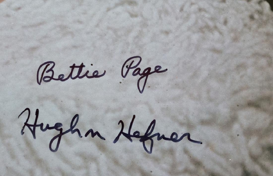 A Bettie Page and Hugh Hefner autographed poster - 2