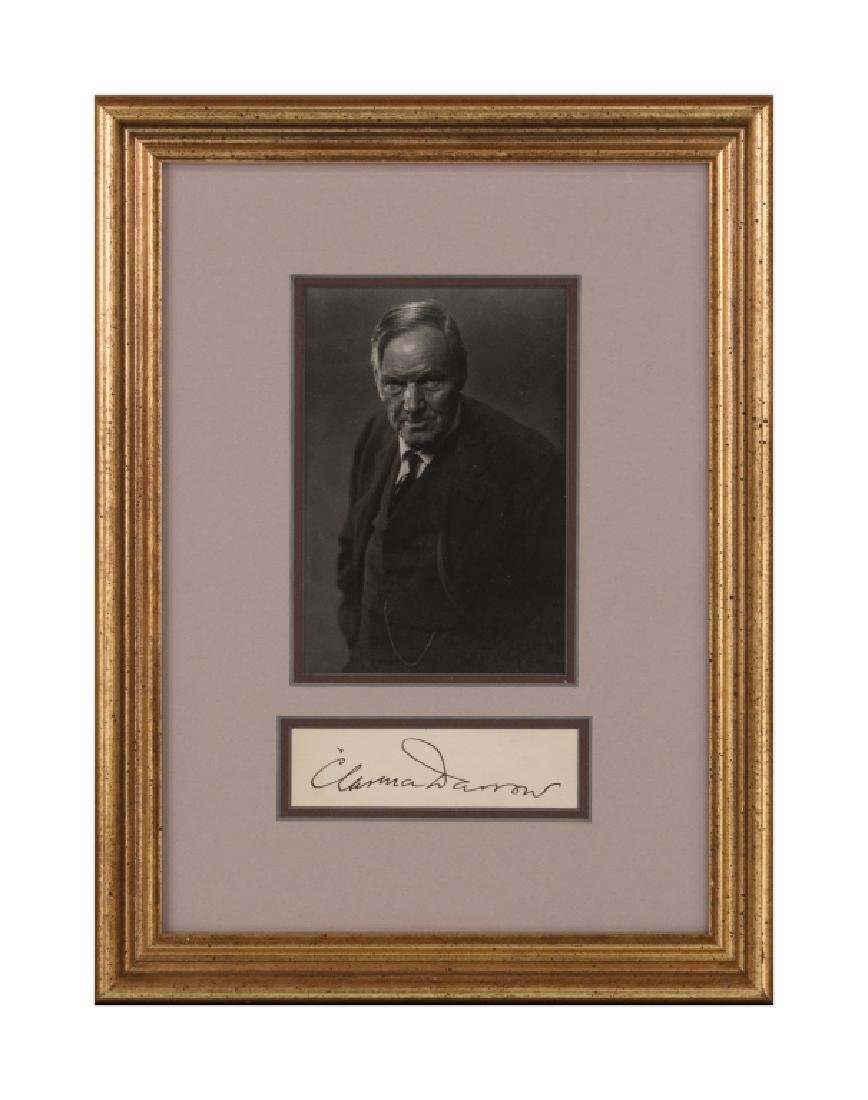 A Clarence Darrow autograph