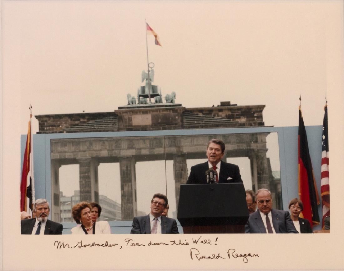 A Ronald Reagan autograph