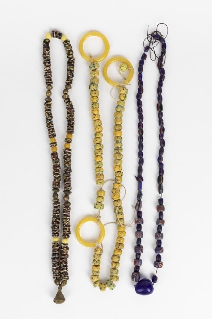 A collection of Venetian glass African trade beads