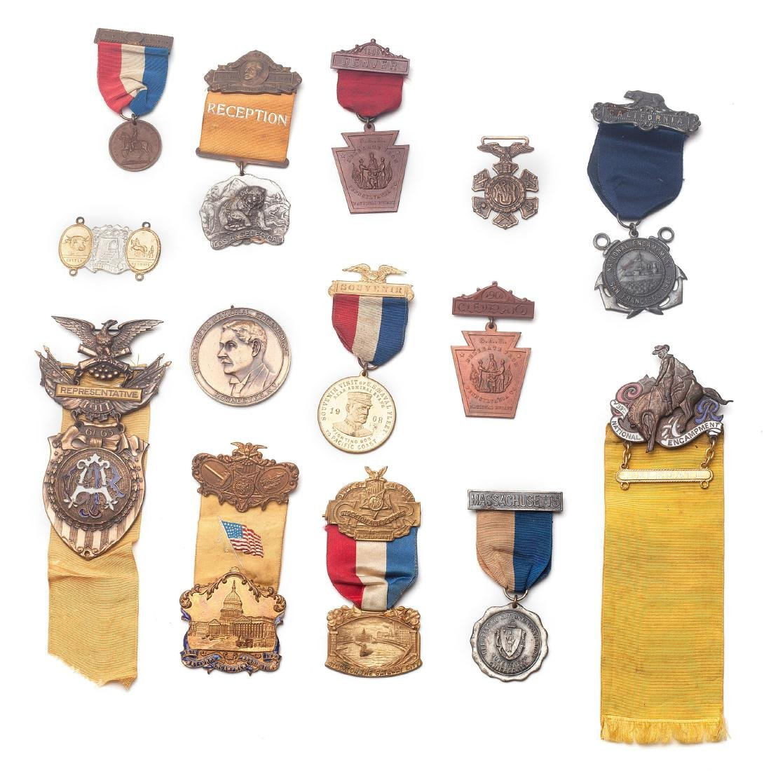 A group of military medals
