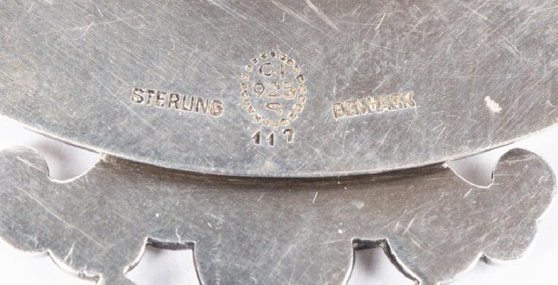 A Georg Jensen sterling tea strainer and bottle opener - 4