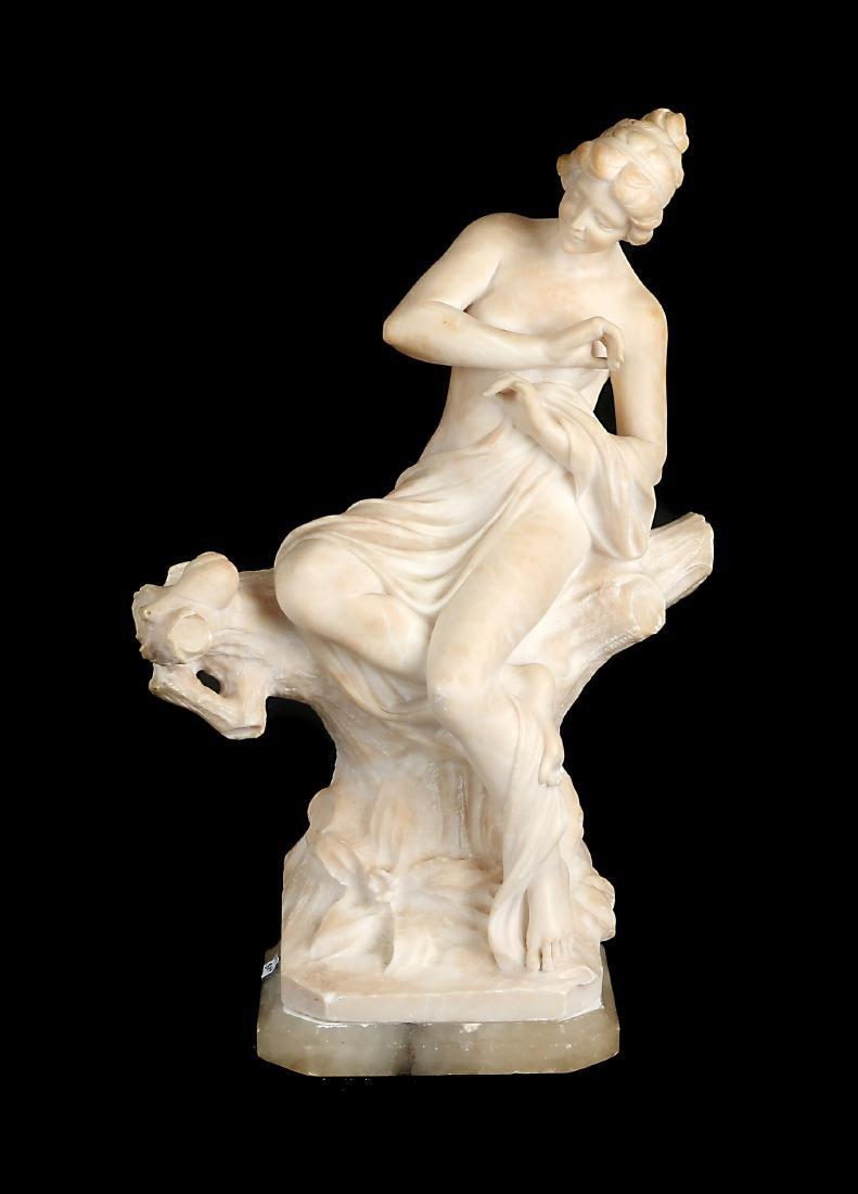 An Italian marble sculpture of a beauty