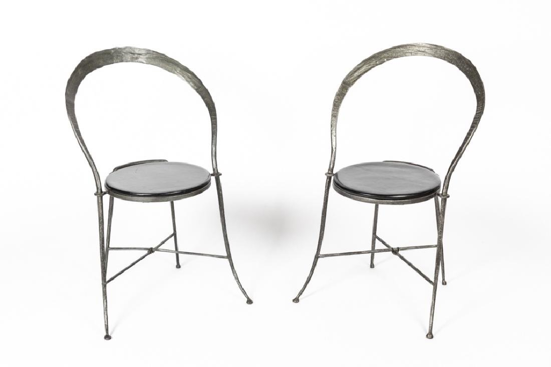 A pair of Giovanni Banci side chairs