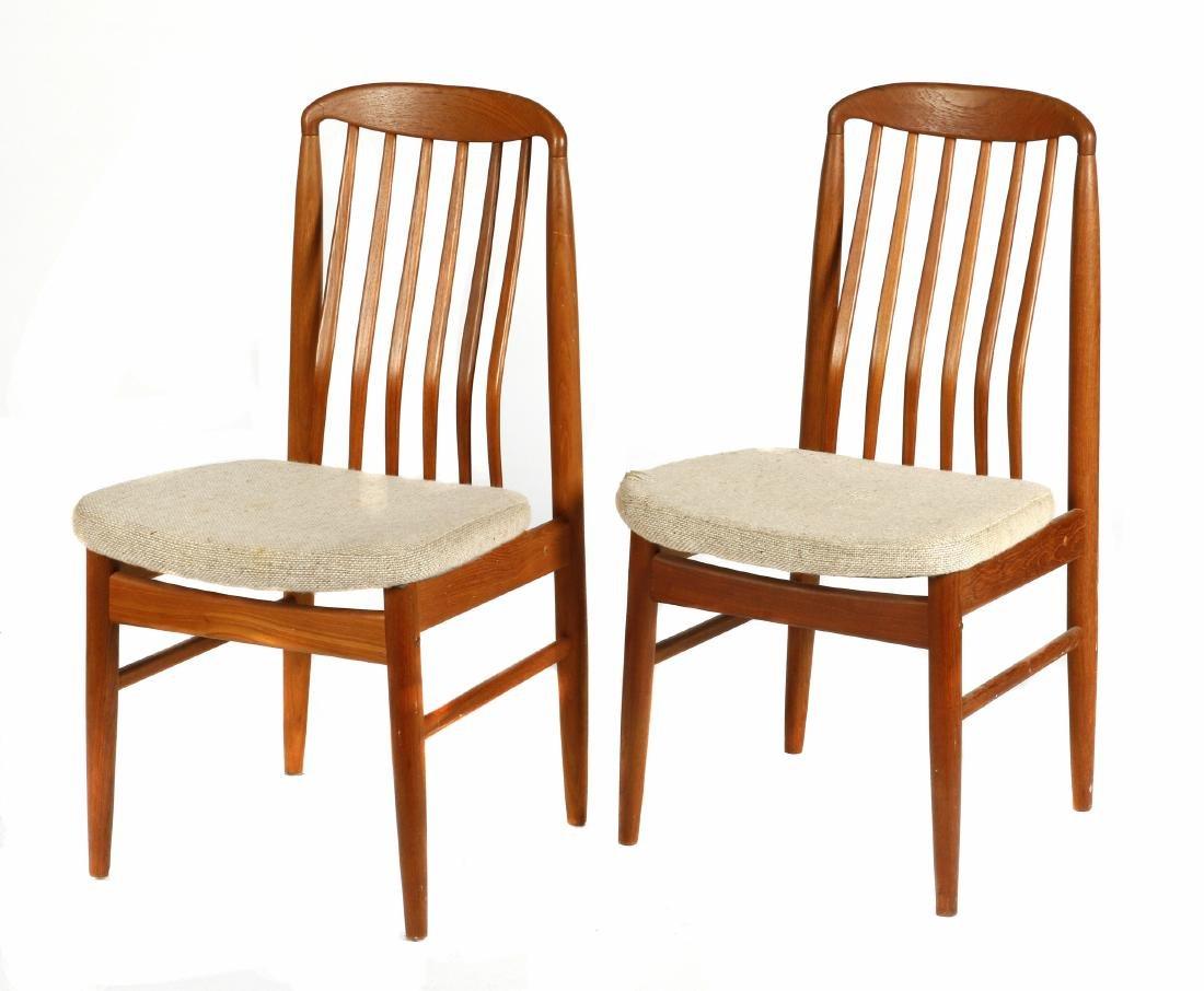 Pair of Benny Linden Design Danish style teak side