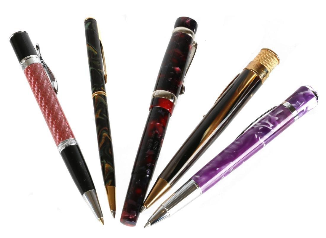 A lot of ten pens