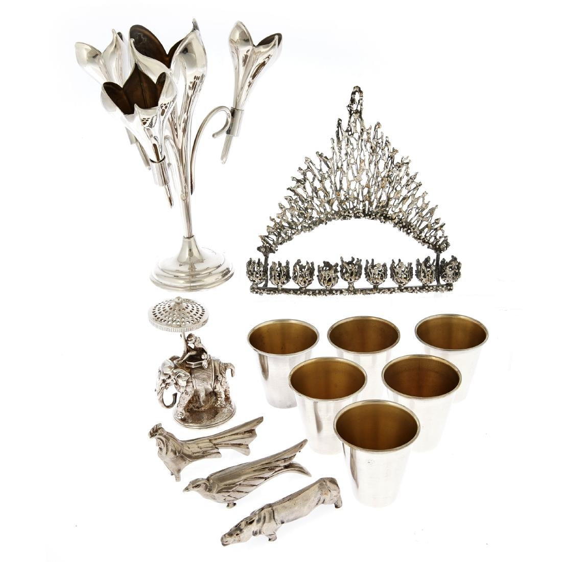 A group of plated items