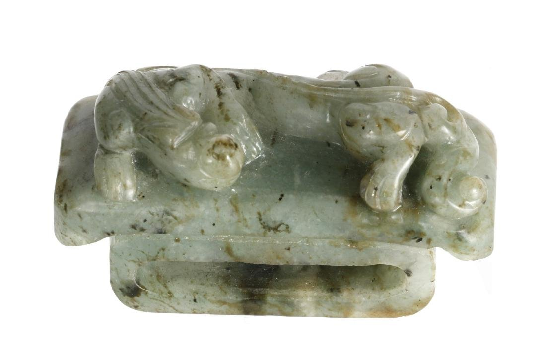 Eight Chinese archaistic jade and stone carvings - 5