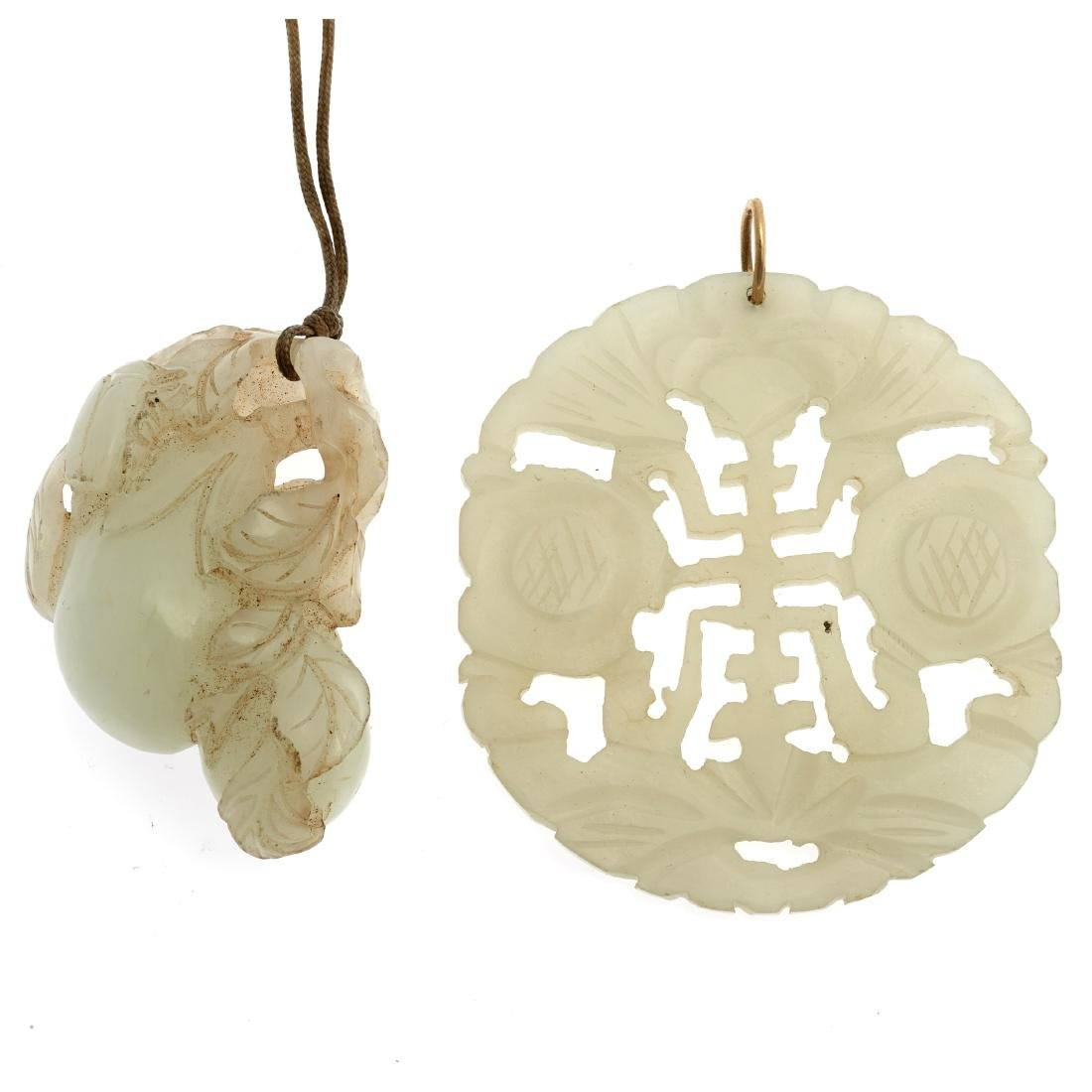 Two Chinese jade carvings