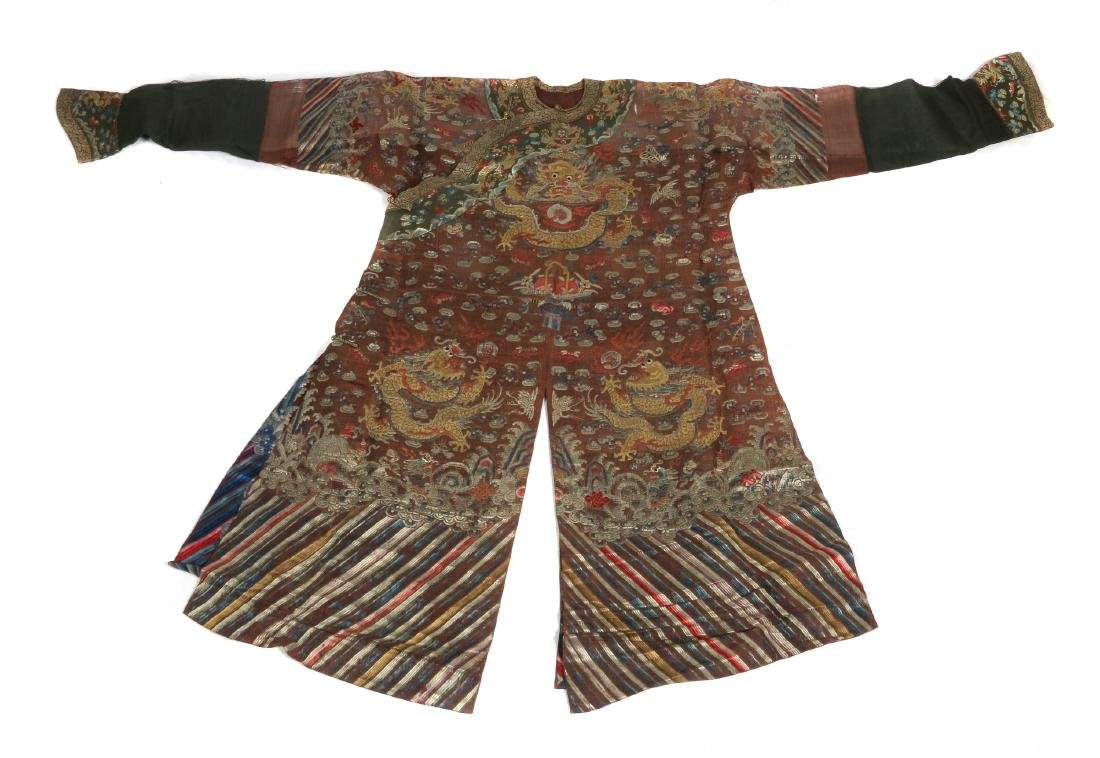 A Chinese summer gauze 'dragon' robe