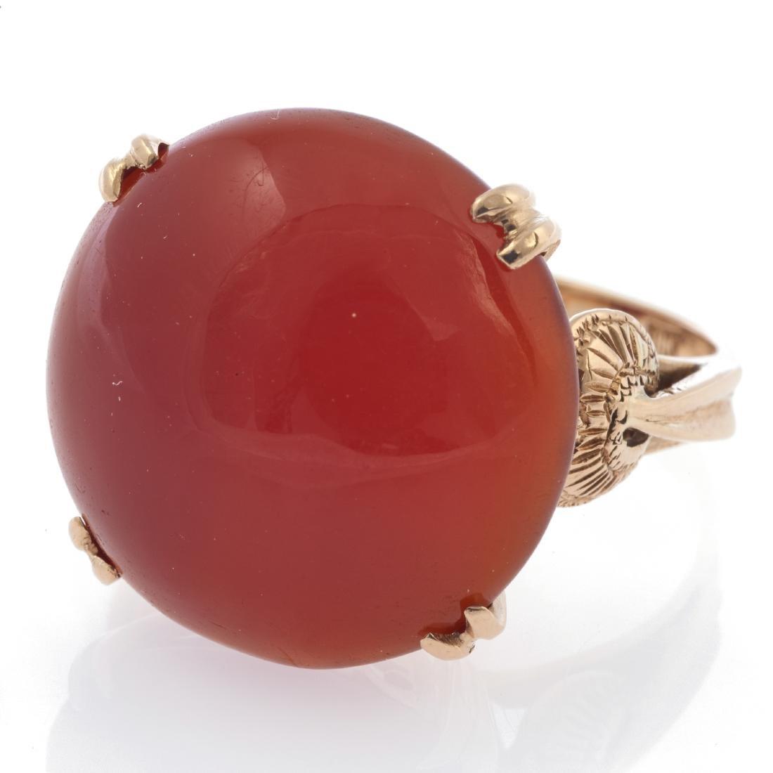 A 14k rose gold ring