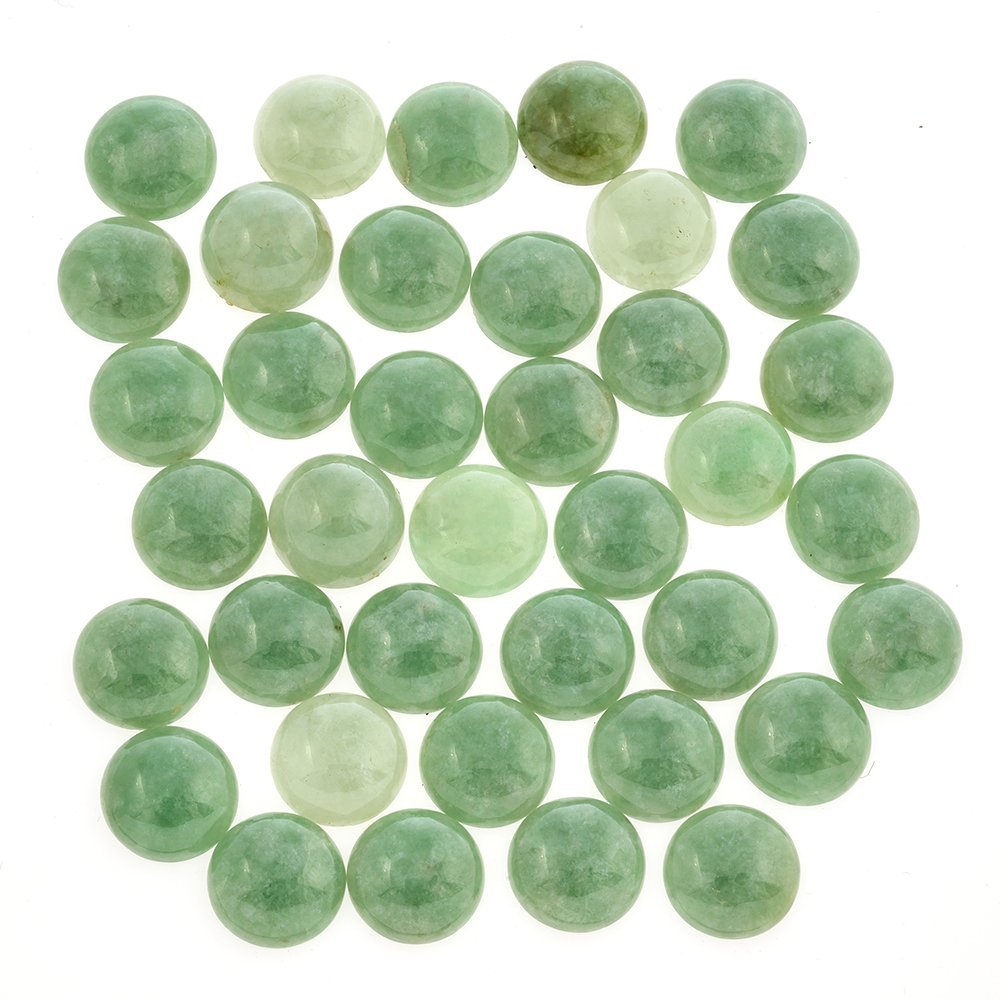 A collection of thirty-eight round jadeite cabochons