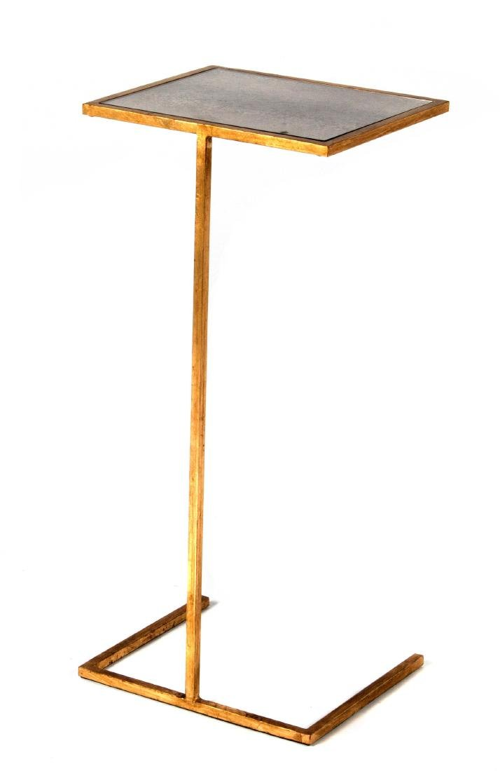 Modern brass and smoked glass side table
