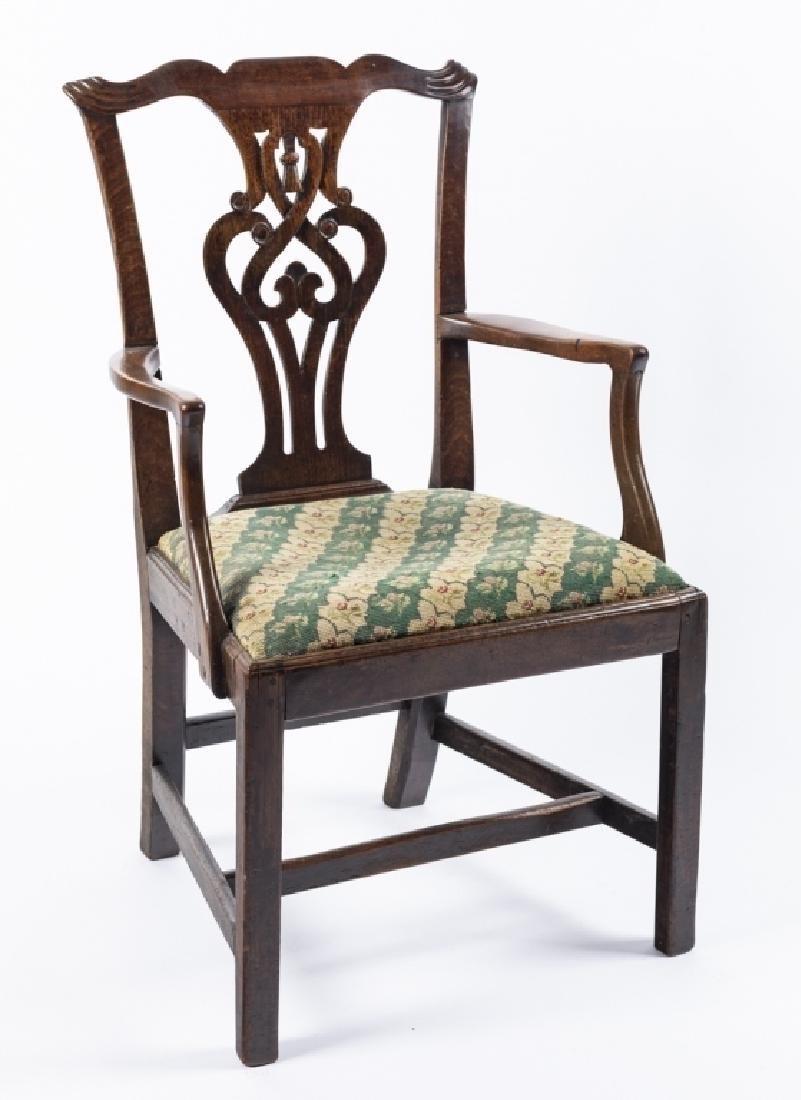 A George III mahogany armchair