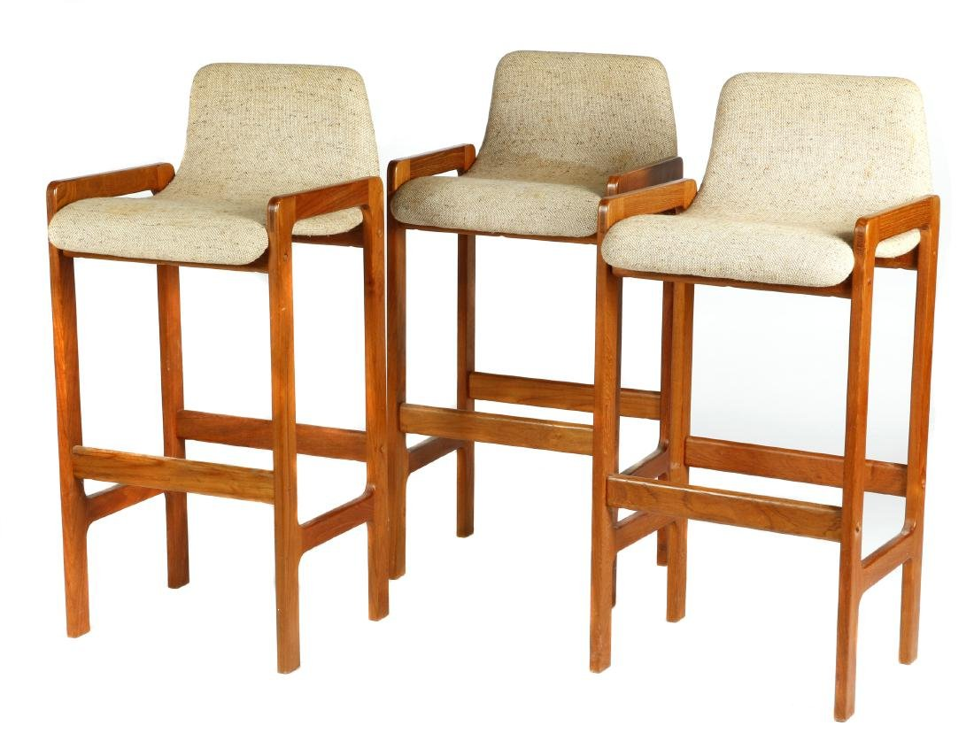 Set of 3 D-Scan Mid Century Modern style teak bar