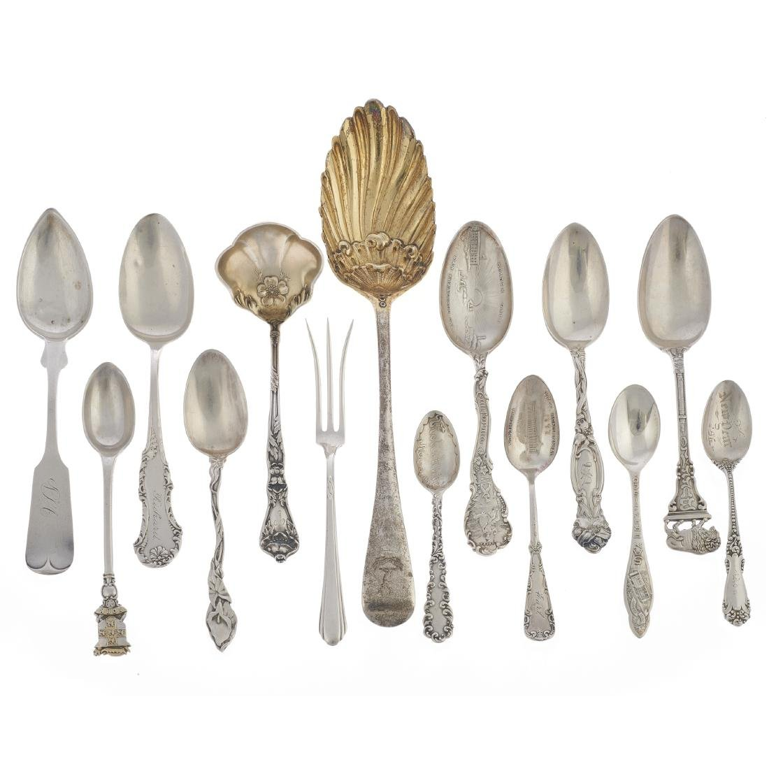 Assorted sterling silver utensils
