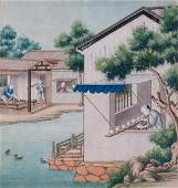 Four Chinese export gouache paintings