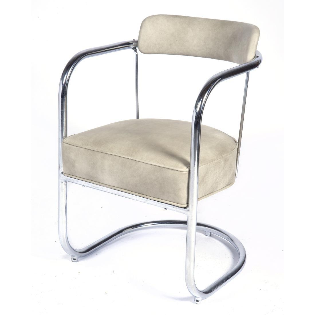 KEM Weber chrome armchair