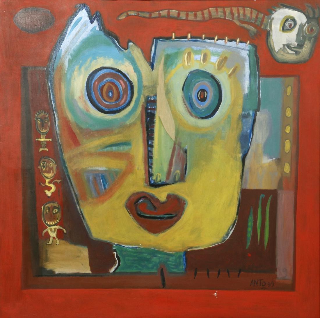 """Anto, """"Une Ombre Plane Sur Lui"""", abstract portrait"""