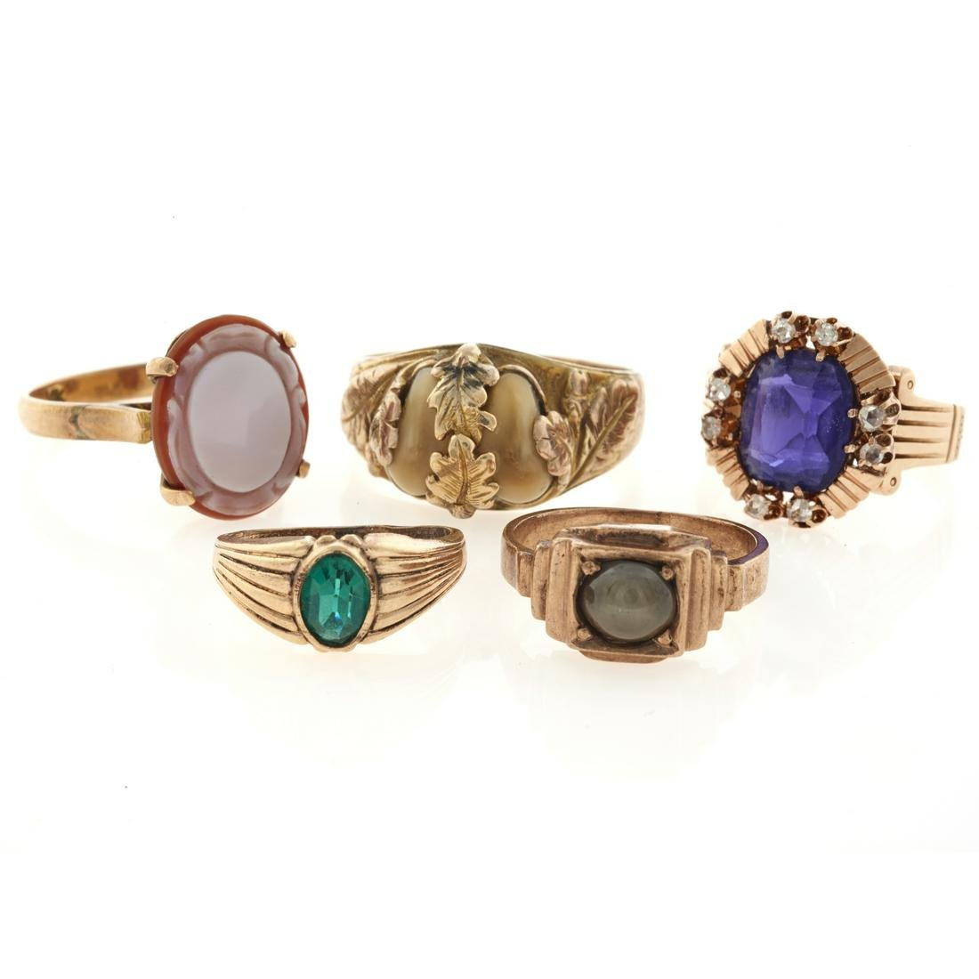 A collection of gold Victorian rings