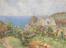 George F. Nicholls (British, 1885-1937) Watercolor