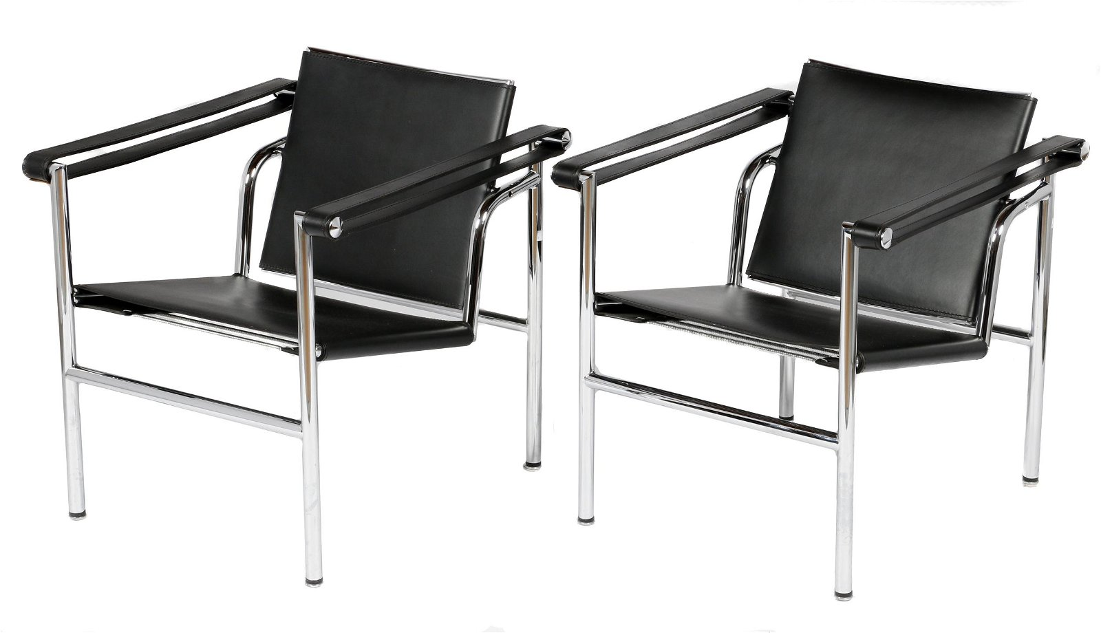 A pair of Le Corbusier LC-1 style armchairs