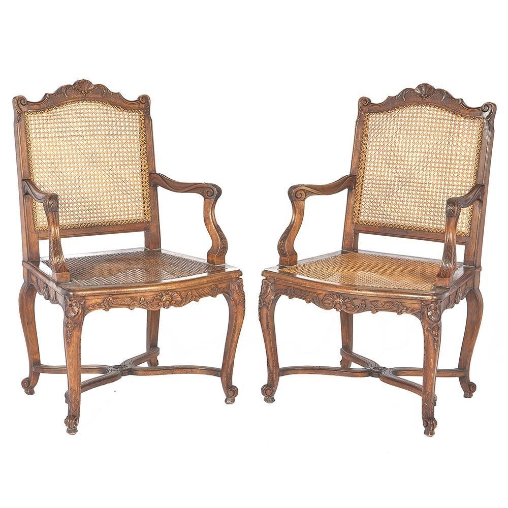 Pair of Louis XV Provincial style Fauteuils