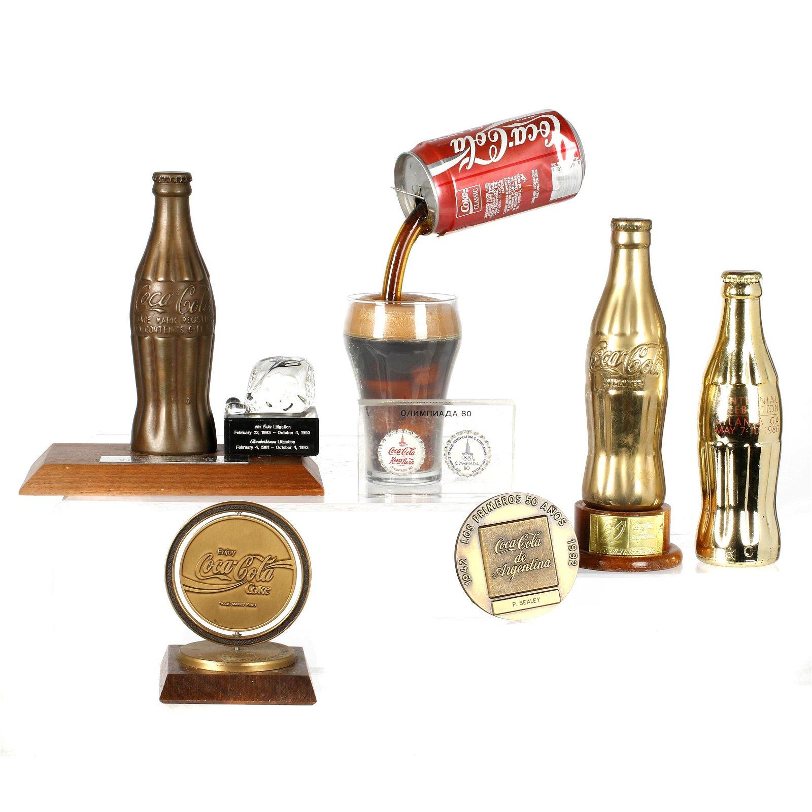 Collection of Coca-Cola desk top Memorabilia