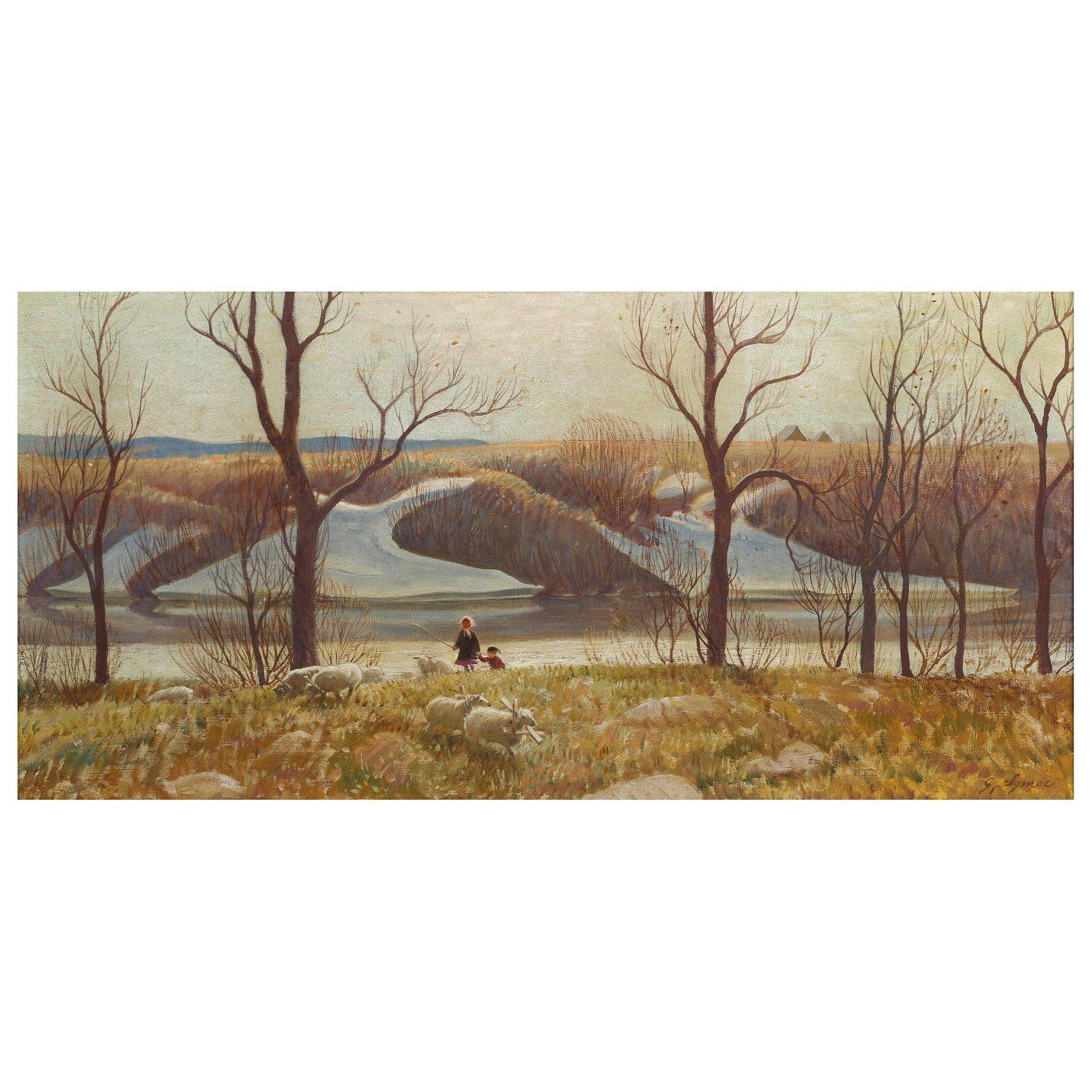John Ford Clymer (American 1907-1989) Oil Painting