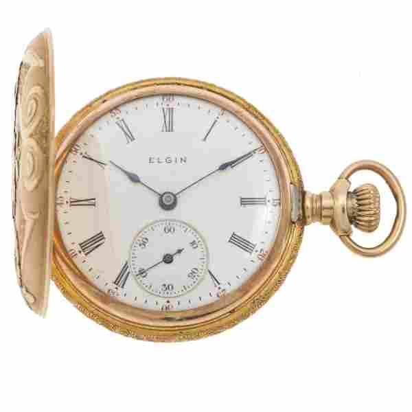 Elgin 14k Multi-Color Gold Pocket Watch