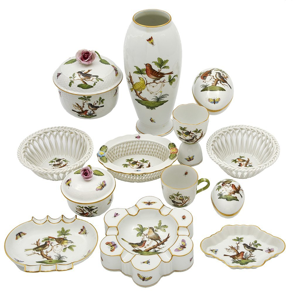 Herend Rothschild Bird Porcelain Table Items