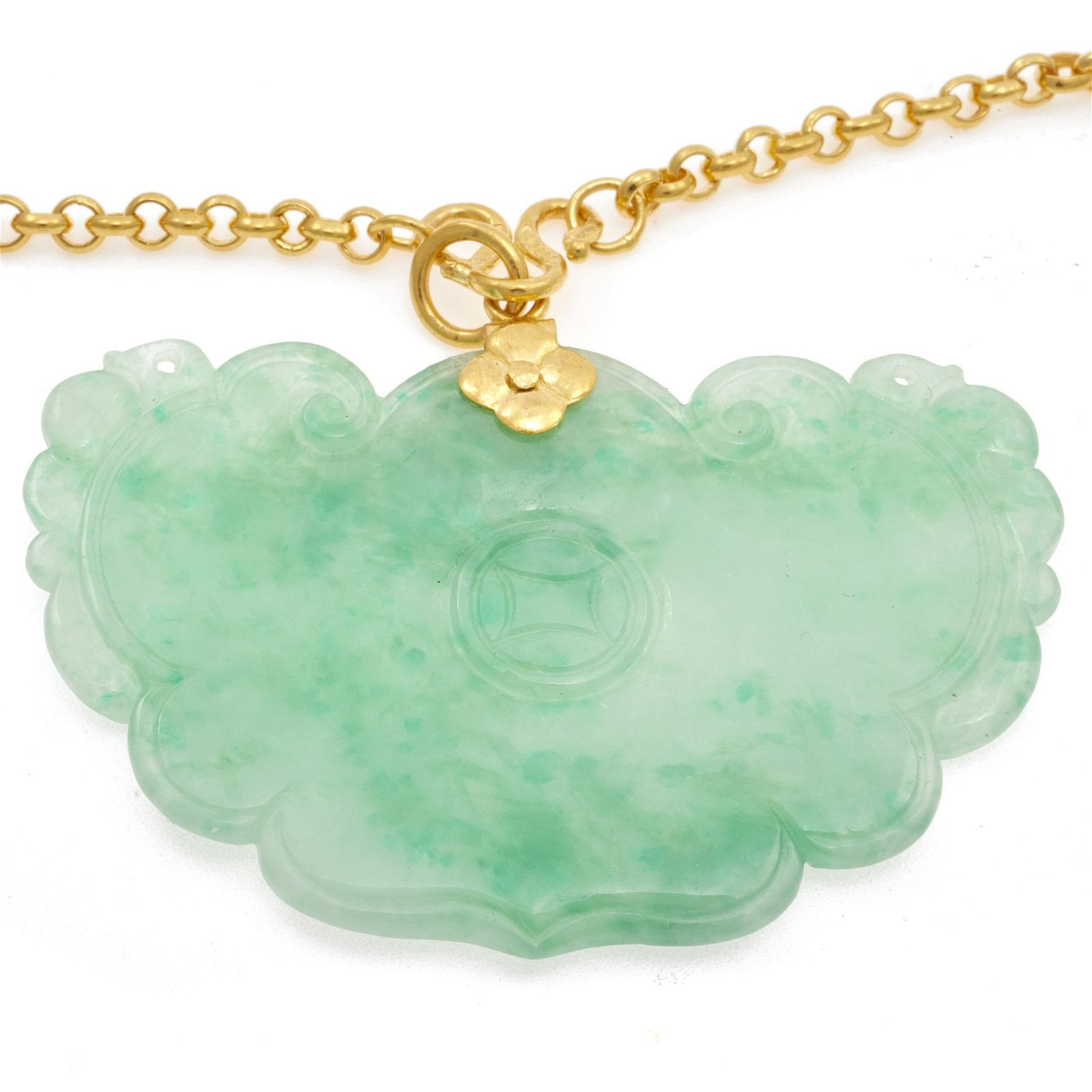 Jadeite, 24k Necklace