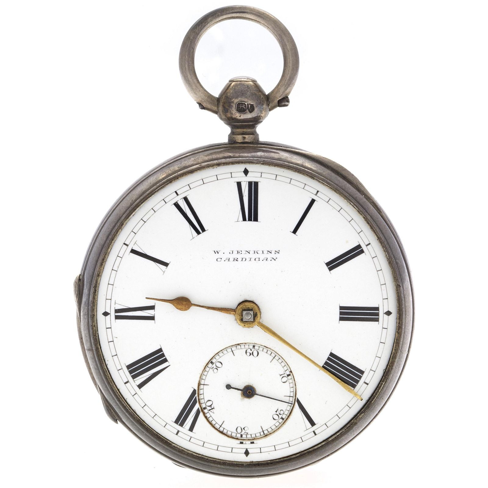 Sterling Silver Fusee Pocket Watch
