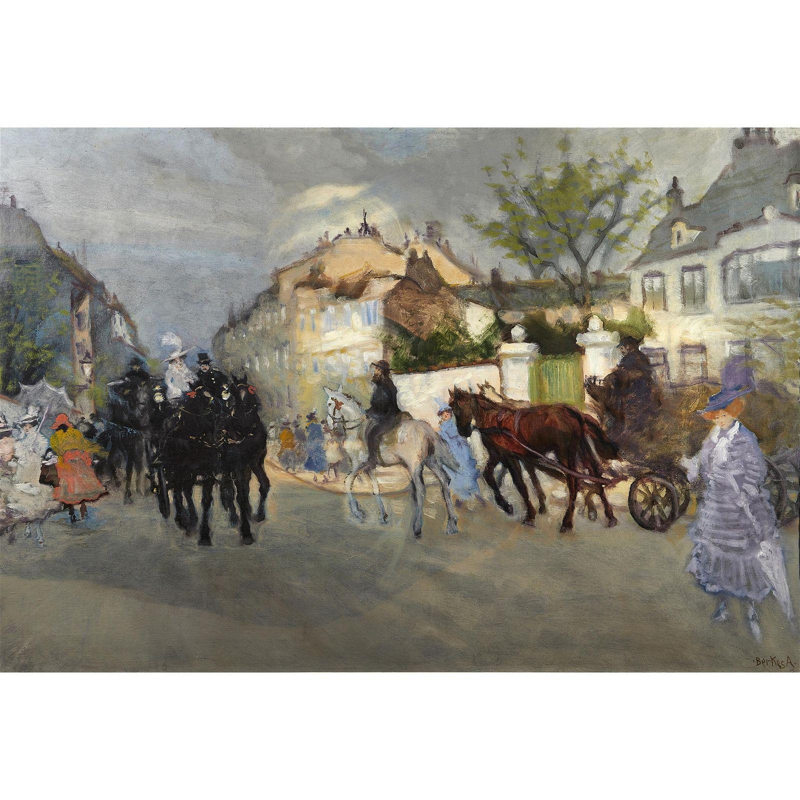 Antal Berkes  (Hungarian 1874 - 1938) Parisian Street