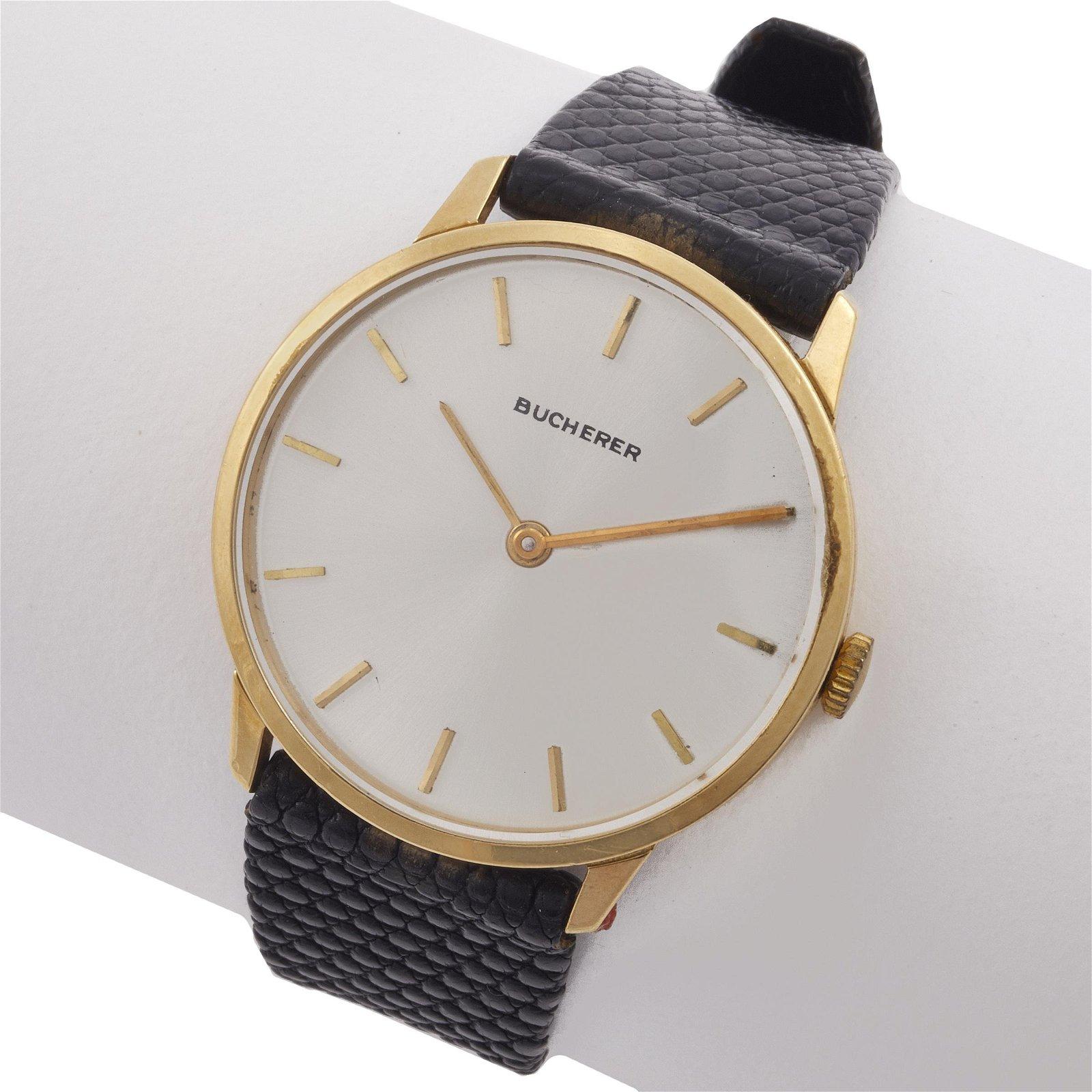 Gent's Bucherer 18k Yellow Gold Dress Watch