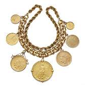 American and International Coins, 14k Yellow Gold