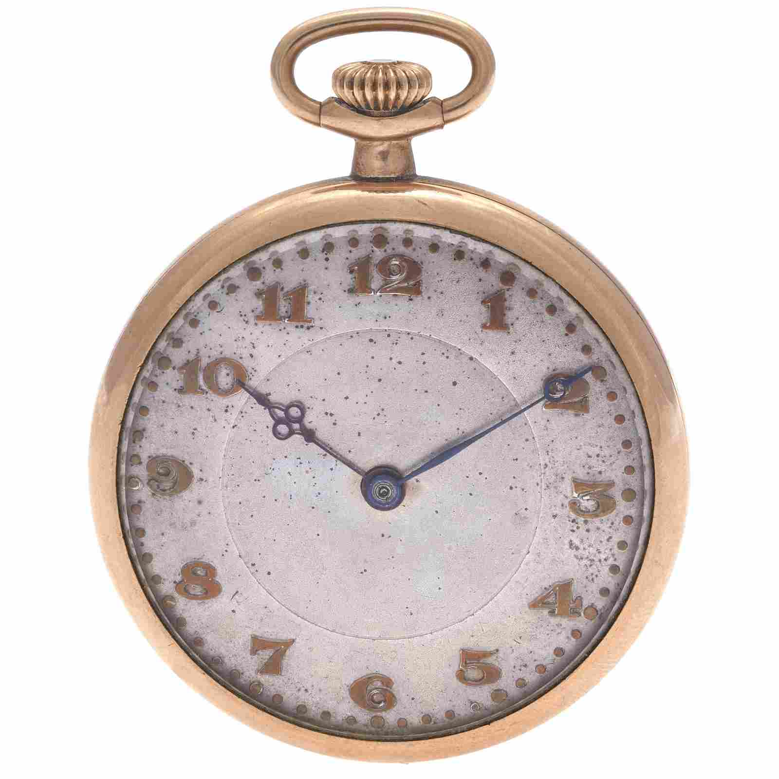 Tavennes Swiss Gold-Filled Pocket Watch
