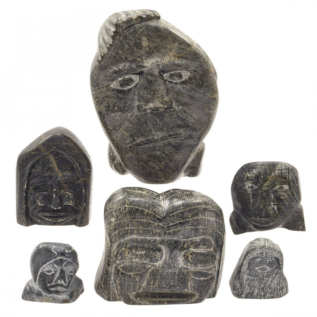 Six Inuit Stone Carvings