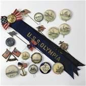 76 Spanish American War Great White Fleet Ships Buttons