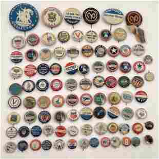 85 Various Antique WWI World War One Buttons