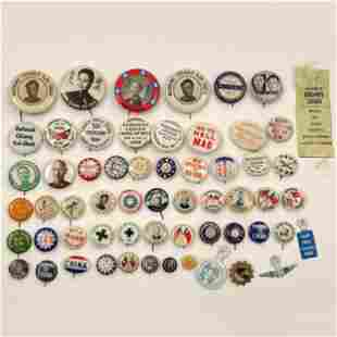 Group of 58 WWII China and China Relief Buttons
