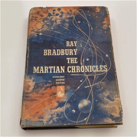 Signed Ray Bradbury Martian Chronicles Book